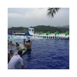 深圳充气大型游泳池租赁佛山充气水上闯关气垫玩具租赁茂名滚筒