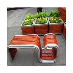 郑州广场中心塑木花箱,郑州小区组合花箱,河南售楼部组合花箱