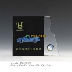 汽车店纪念品 开业赠品 企业宣传赠嘉宾礼品 创意水晶办公摆件