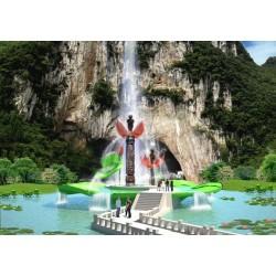 新艺标环艺 重庆园林景观设计 四川景区入口 重庆景区标识设计